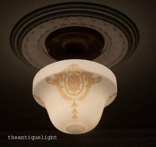 ((eastlake))  Ceiling Lamp Light Glass Shade Fixture Hall Entry Porch photo