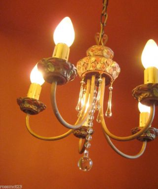 Vintage Lighting Antique 1920s Moe Bridges Set One Chandelier Pair Sconces photo