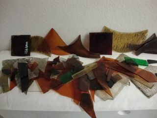 Vintage Stained Glass Pieces For Window Repair Of Small Pieces photo