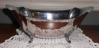Reed & Barton Silver Plated Footed Bowl Compote 1460 Circa 1953 photo