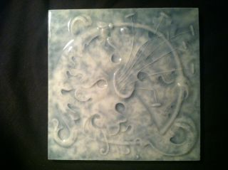 Cambridge Victorian Art Tile Hibiscus Flower 6