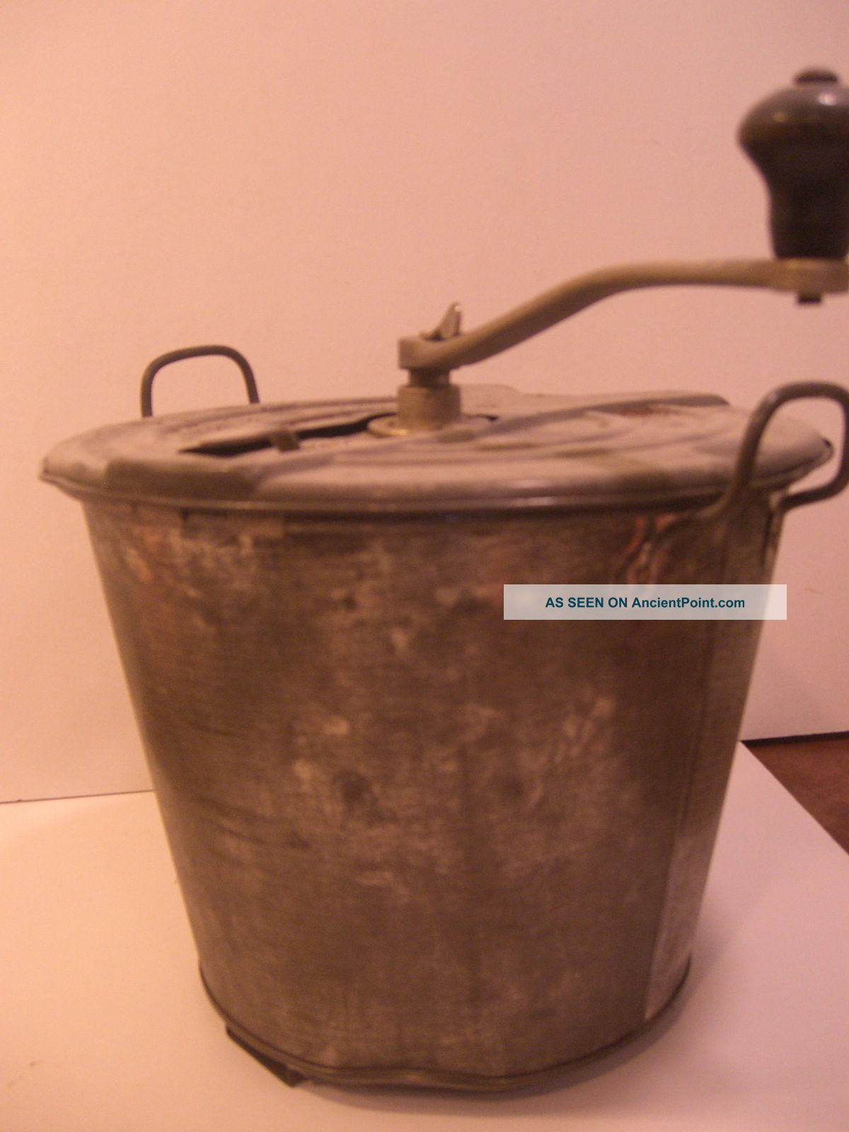 Antique Landers Frary & Clark No 4 Universal Bread Maker Bucket Mixer From 1904 Other photo
