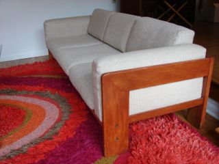 Tobia Scarpa For Knoll Rosewood Sofa Eames Era Modern photo