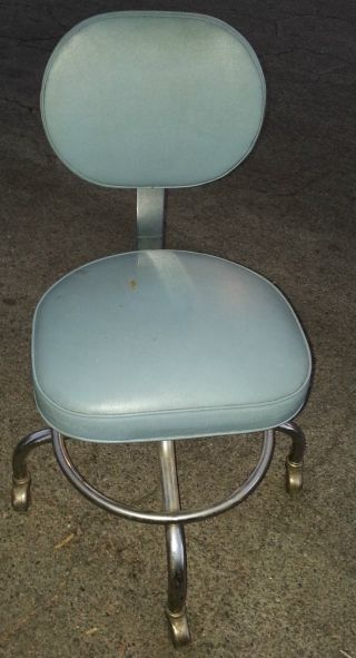 Vintage Brandt & Sons Chair Rolling Industrial Doctors Mid Century Modern Stool photo