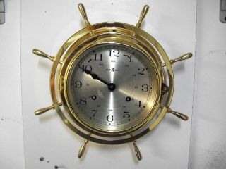 Vintage Howard Miller Marine Ships Clock Service And Working photo