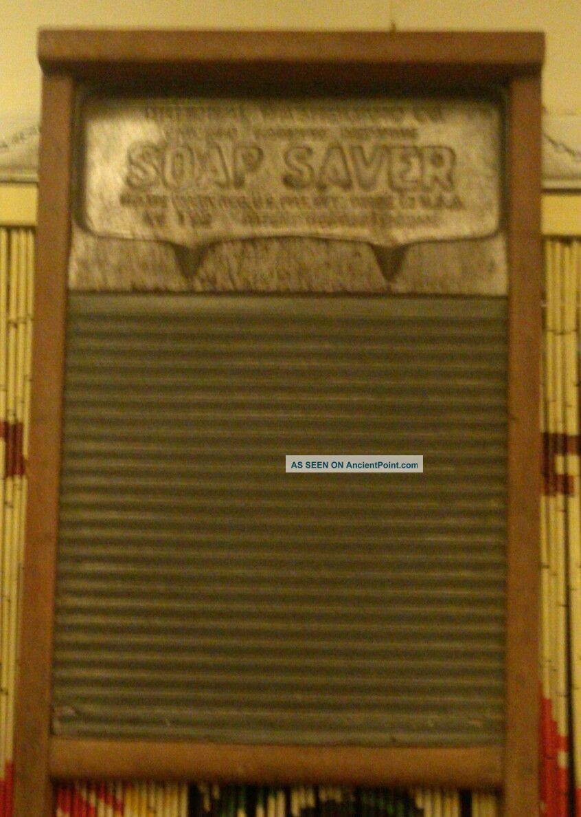 Vintage National Washboard No.  192 Antique Zinc & Wood Soap Saver Edition Washing Machines photo