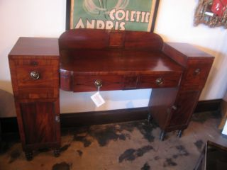 Antique Mahogany Regency Period Sideboard Circa 1800 W/ Sleek Lines photo