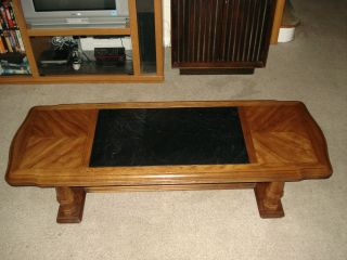 Drexel Heritage Custom Slate Coffee Table Mid Century Vintage Furniture photo