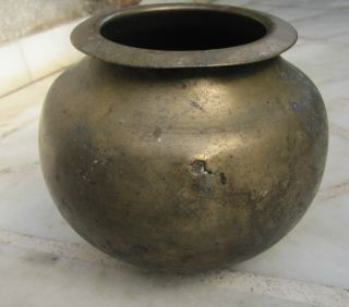 1920 Rare Antique Old Vintage Ancient Indian Cooking Pot Utensil Mixed Metals photo