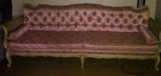 Antique Vintage Prince Howard Pink Sofa/couch photo