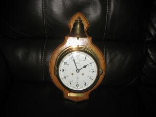 Vintage Schatz Royal Mariner Open Bell Ships Clock 7 Jewel Estate Find. photo