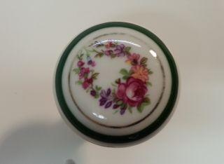 Brass Ucda Limoges Porcelain Brass Cabinet Knobs With Floral Motif photo