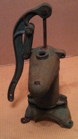 Antique Mcdonald Iron Water Pump.  Dubuque,  Iowa. photo