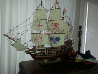 Spanish Galleon Museum Replica Model photo