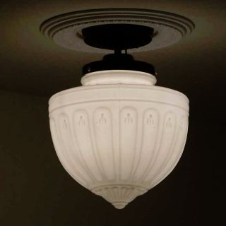 ((sweet))  Vintage Ceiling Lamp Light Glass Shade Fixture Kitchen Porch Hall photo
