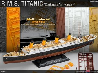 New Titanic 1 - 700 Multi Colored Parts R M S Academy Plastic Model Kit (14214) photo