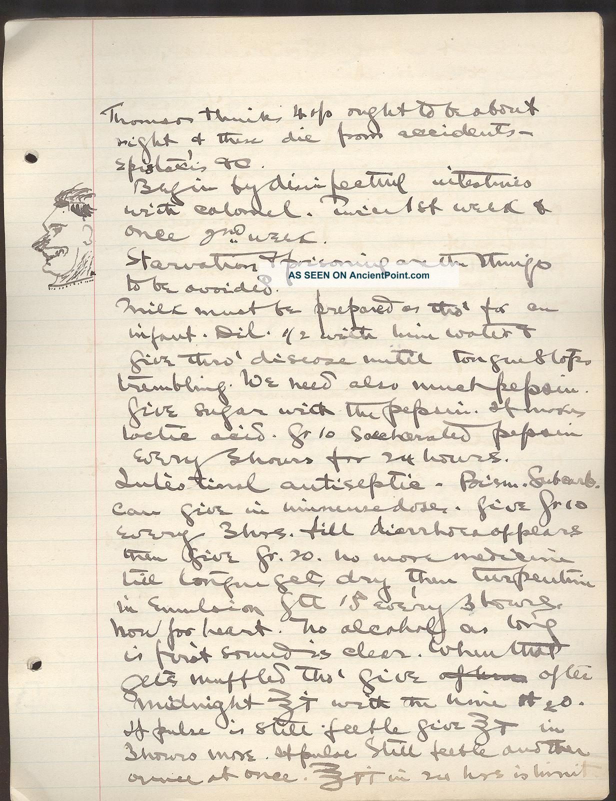 1895 Handwritten Medical Notes Dr Vanburen Thorne Univ Medical College Ny 500p American photo