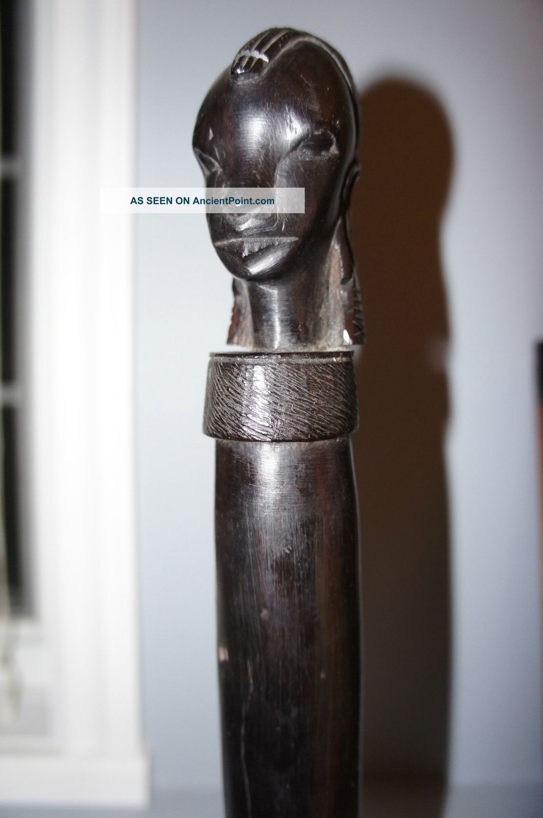 Antique Hand Carved Ebony Wood Unusual Decorative African Sword Fertility Other photo