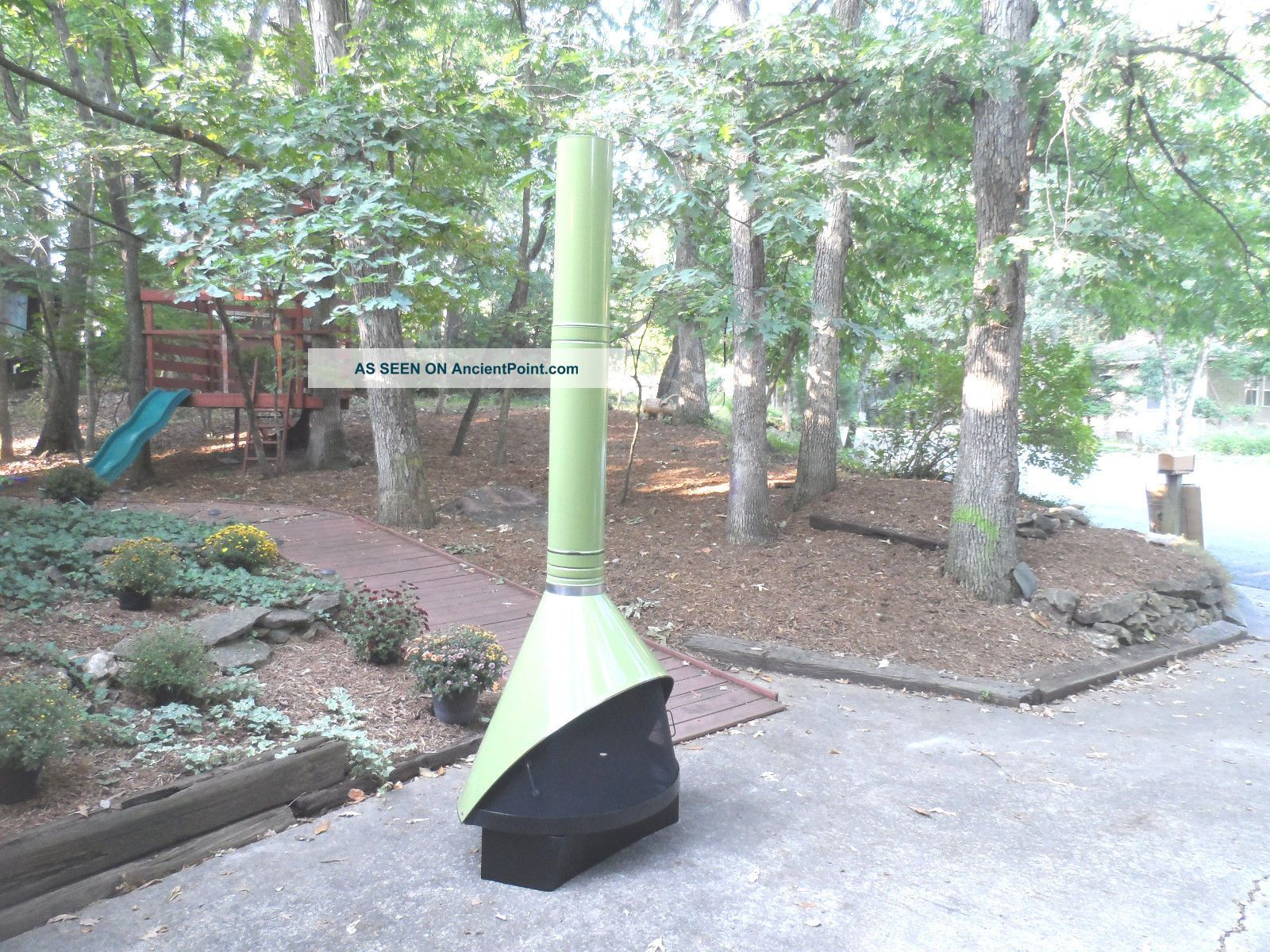retro mid century modern green preway freestanding cone fireplace malm