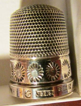 Sterling Silver Sewing Thimble James Swann & Sons Birmingham England Decorative photo