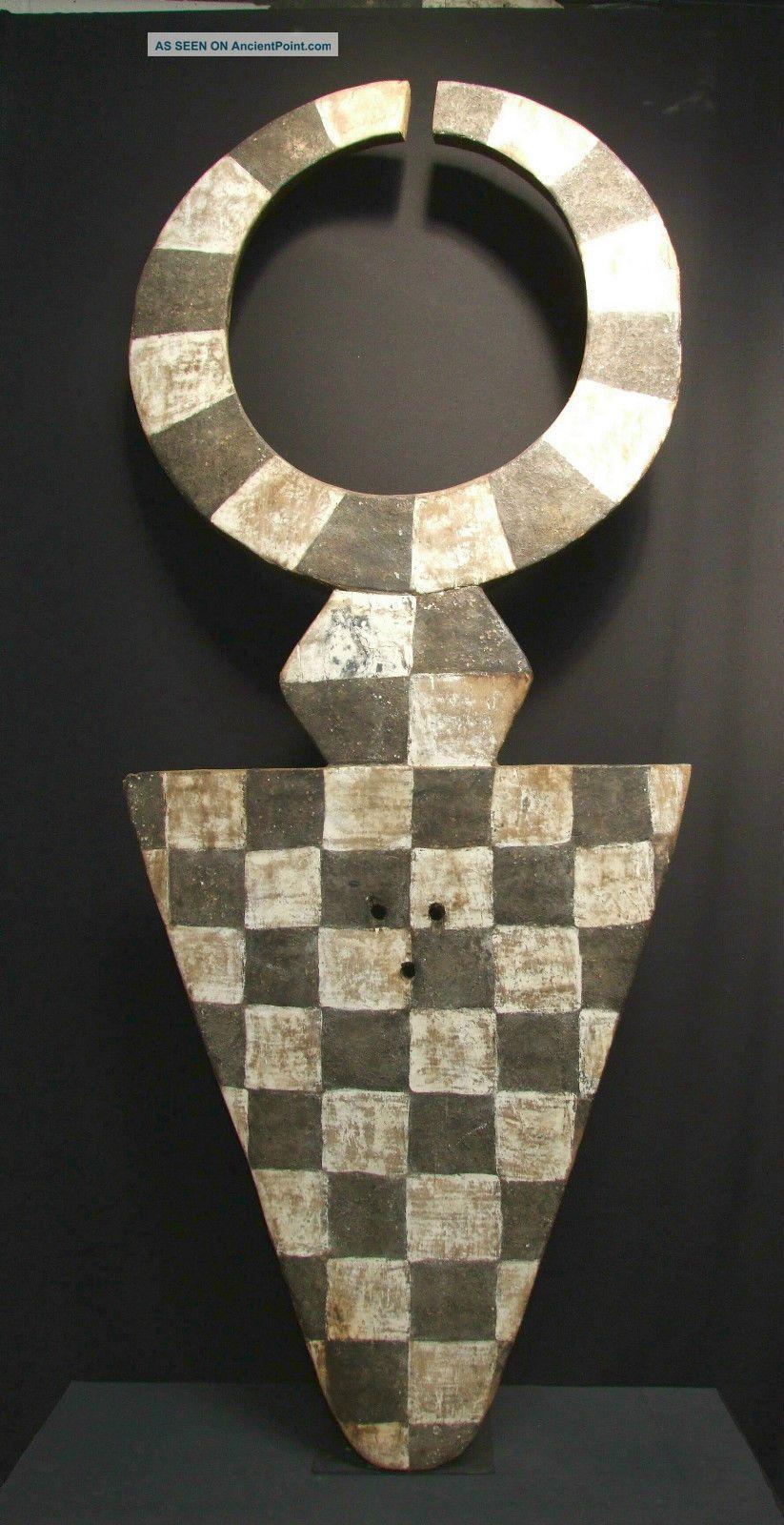 African Tribal Bedu Plank Mask,  Nafana (210 Cms Tall) - - - - - Tribal Eye Gallery Other photo