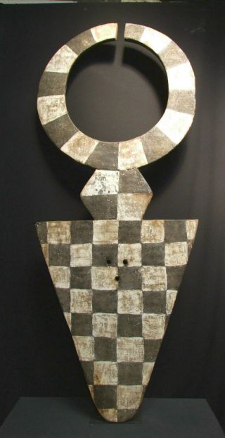 African Tribal Bedu Plank Mask,  Nafana (210 Cms Tall) - - - - - Tribal Eye Gallery photo
