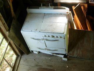 Vintage Glenwood Wood And Gas Range Stove With Oven photo
