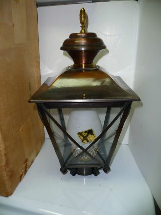 Vintage 1960 ' S New Old Stock Wasley Replacement Post Lamp Lantern Fixture Mib photo