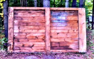 Large Rustic Barn Door With Hardward photo
