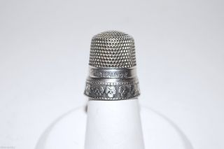 Antique Sterling Silver Thimble Stern Brothers - Size 9 - 1890 - 1913 photo