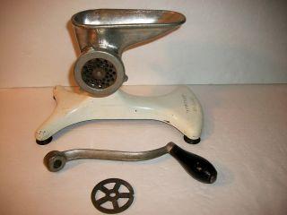 Vintage Enterprise No - Clamp Meat Grinder With 2 Blades. photo
