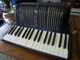 Antique Accordion By Hohner Verdi Ia Well Know German Manufacturer photo
