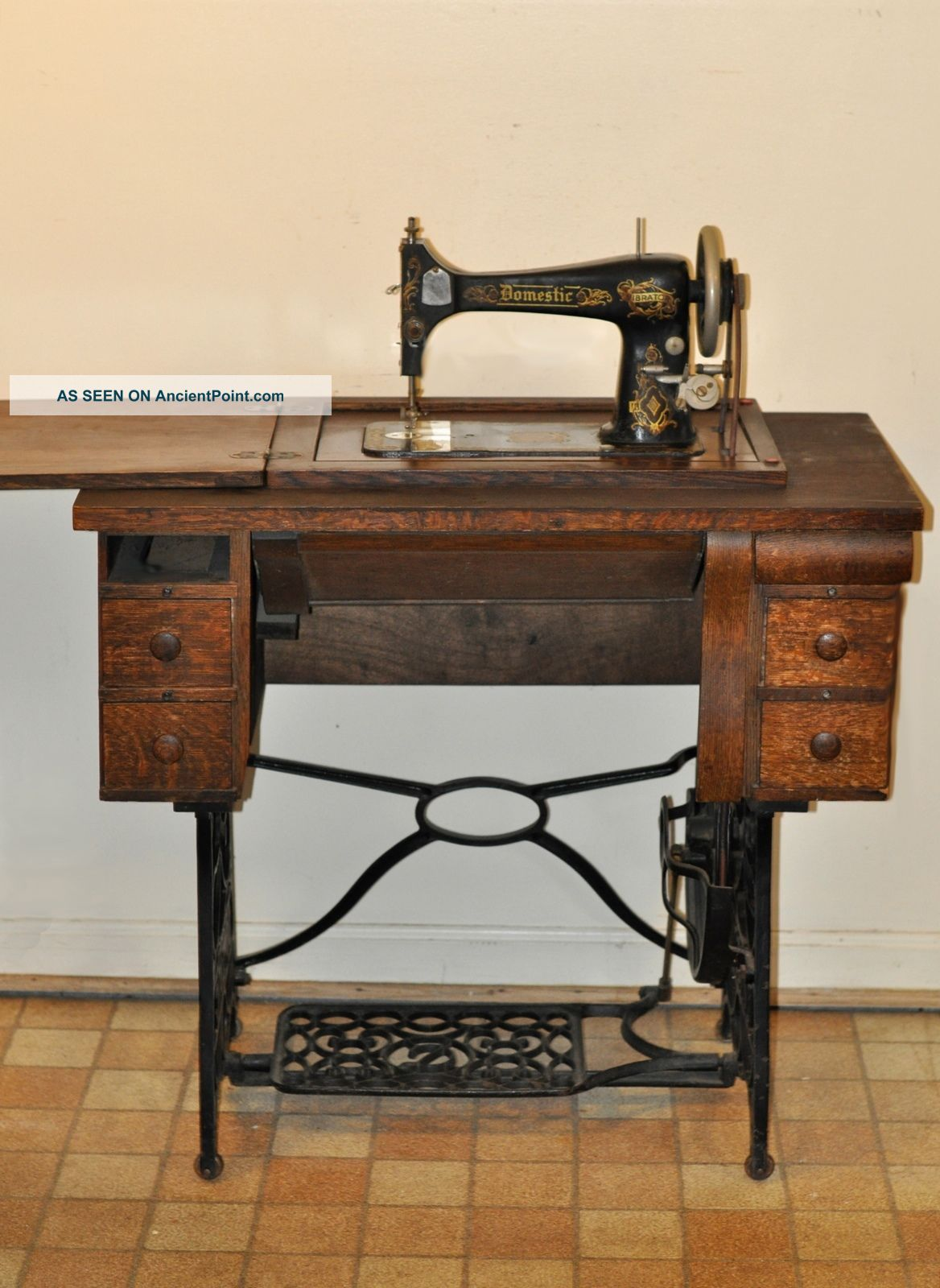 Antique Domestic Treadle Sewing Machine