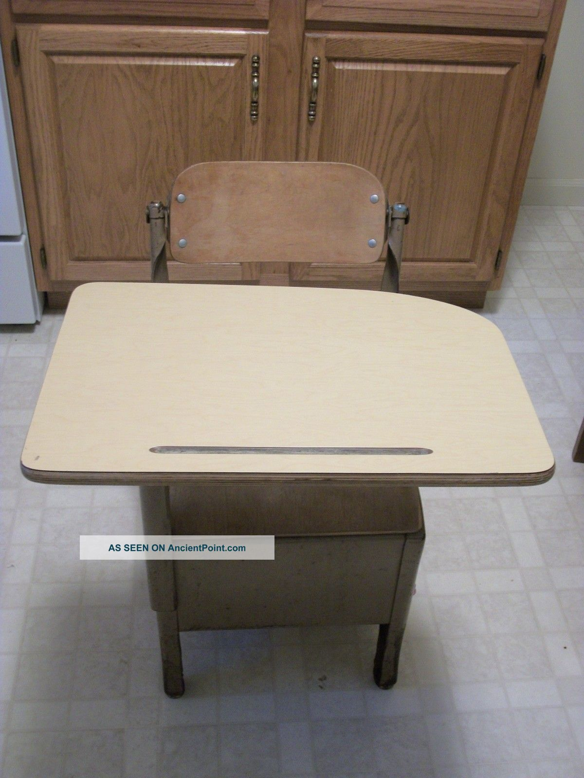 Vintage School Desk / Peabody Seating Company / North Manchester,  Indiana 1900-1950 photo