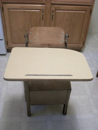 Vintage School Desk / Peabody Seating Company / North Manchester,  Indiana photo