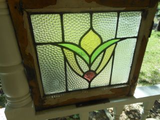 309 Older & Pretty Multi - Color English Leaded Stained Glass Window 4 Available photo