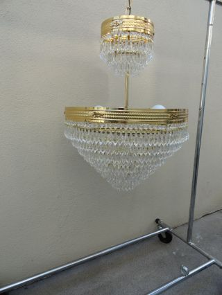 Vintage Italian Crystal Chandelier Bought In Italy.  Will Not Find One In Usa photo