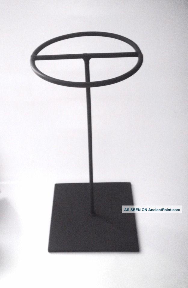 African Metal Stand Helmet Mask 16