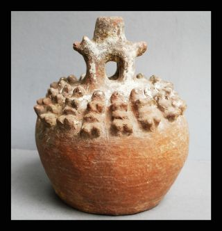 A Spirit Clay Pot From The Ewe Tribe Of Ghana With Animal & Human Form photo