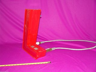 Vintage Neon Red Metal Sign Initial Letter = L = 16