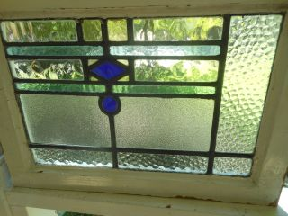 315a & Unusual Design Of An English Leaded Stained Glass Window photo