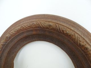 Antique Cast Iron T Bent & Sons New York 164 Floral Ornate Woodstove Frame Part photo