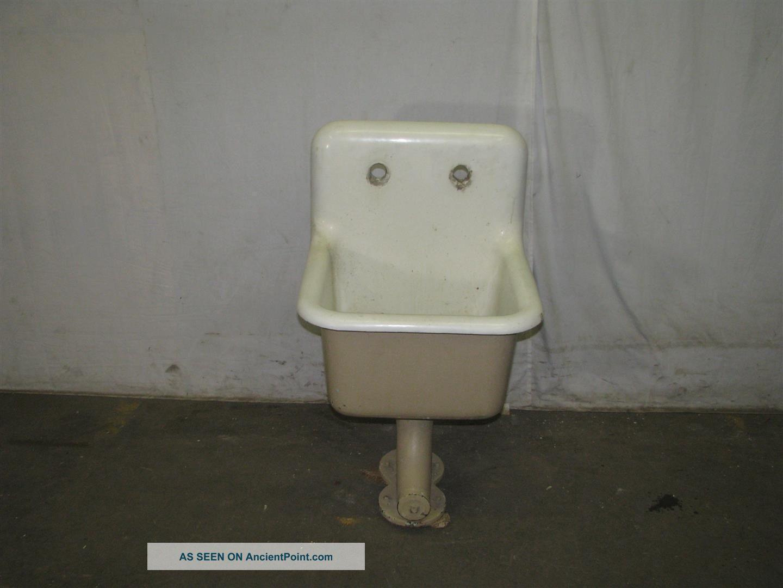 Antique Industrial Porcelain & Cast Iron Slop Sinks Sinks photo