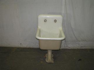 Antique Industrial Porcelain & Cast Iron Slop Sinks photo