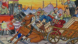 Rare1920 Constantinople Street Scene