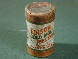 Edison Gold Moulded Record Cylinder Empty Container Circa 1900 photo