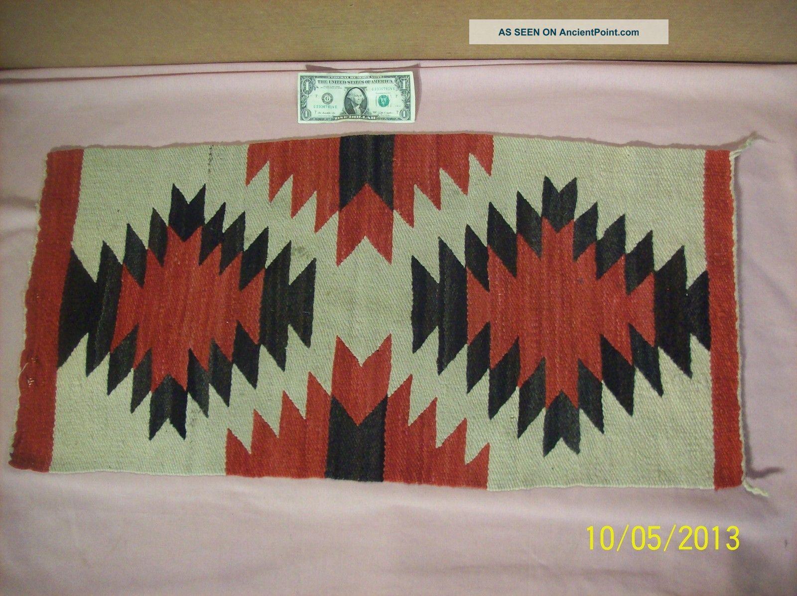 Vintage Authentic Native American Navajo Indian Wool Rug 36