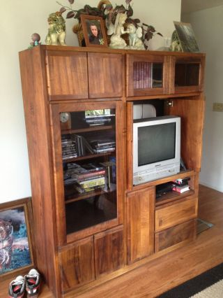 Koa Wood Entertainment Center Hawaiian Built photo