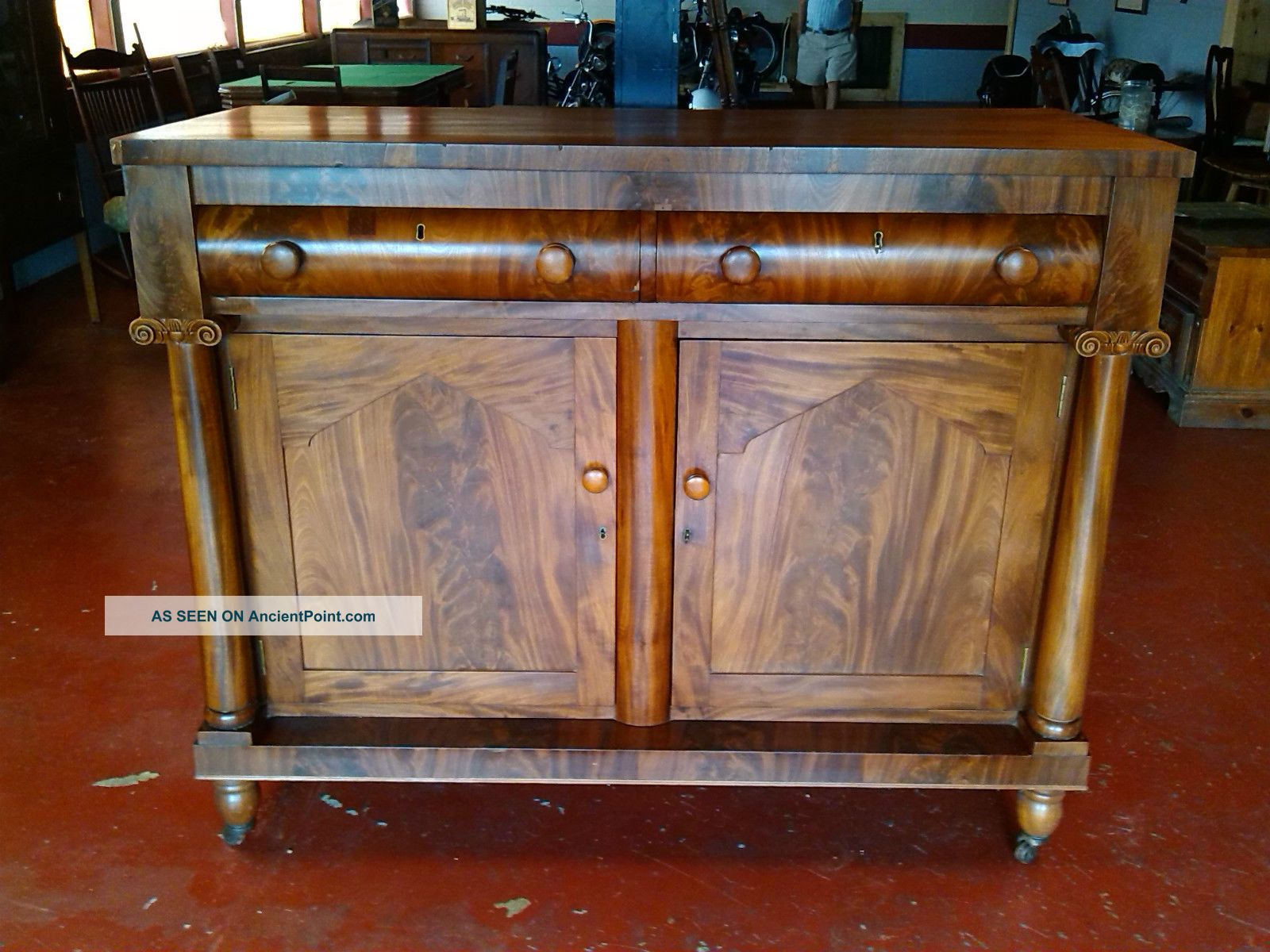 Unique Antique Sideboard Buffet/bar 1900-1950 photo