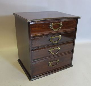 Fine Antique Mahogany Miniature Cabinet W/ Compartments C.  1870 14